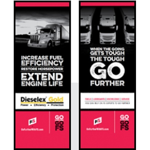 DX Gold/ When the Going Gets Tough Pull-Up Banner - Double/Sided