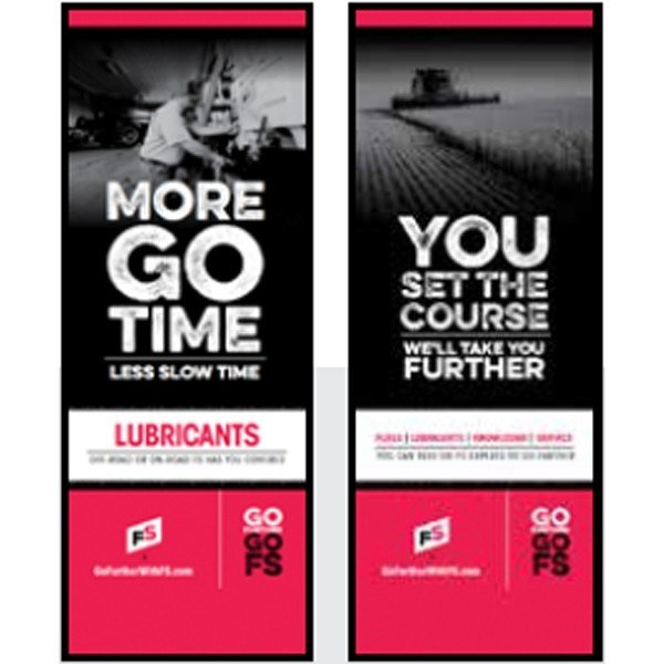 FS Lubes, Bulk/ You Set The Course Pull-Up Banner - Double/Sided