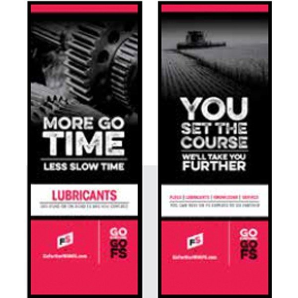 FS Lubes, Gears/ You Set The Course Pull-Up Banner - Double/Sided