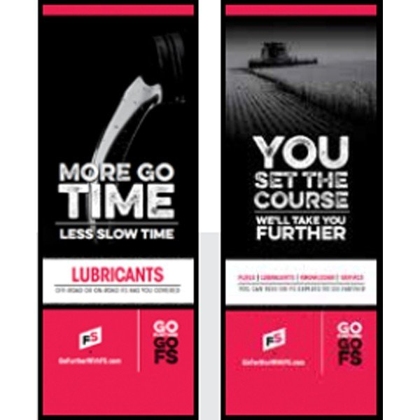 FS Lubes, You Set The Course Pull-Up Banner - Double/Sided