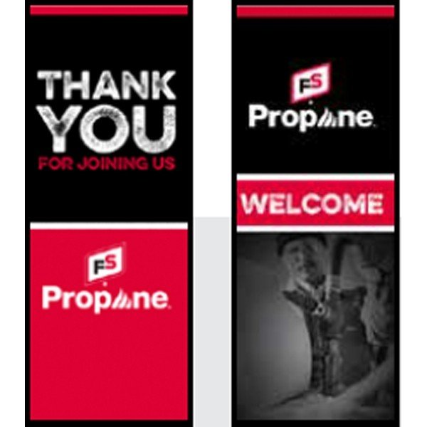 FS Propane Welcome/ Thank You Pull-Up Banner - Double/Sided